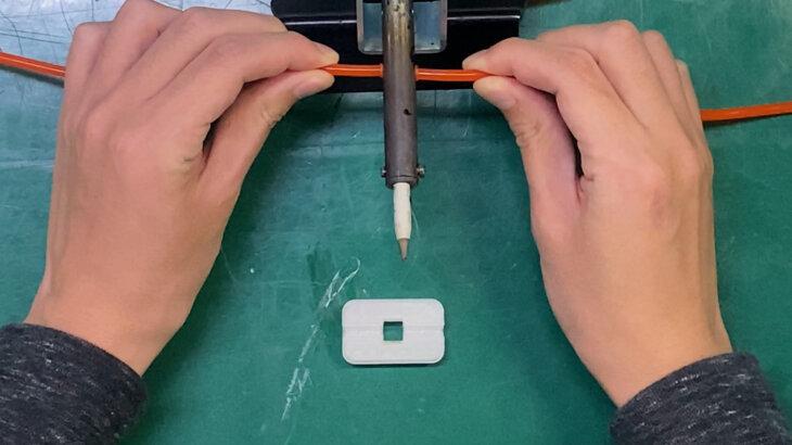 ローラーベルトの溶着の仕方(3本ローラー・4本ローラー)